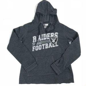NFL Team Apparel RAIDERS Women's Gray Long Sleeve